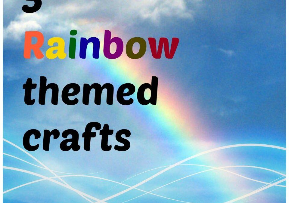 3 Rainbow themed crafts