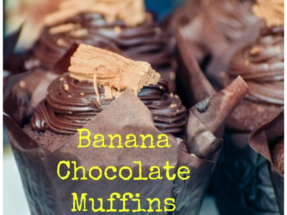 Banana Chocolate Muffins, muffin recipe, chcoclate recipe, banana recipe