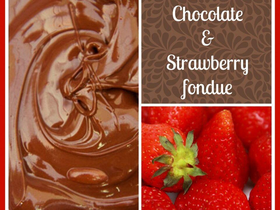 Chocolate & Strawberry fondue