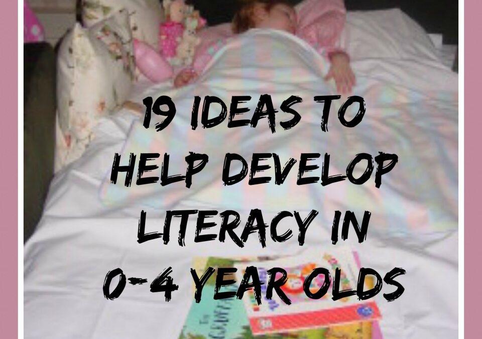 literacy activities, helping children language develop