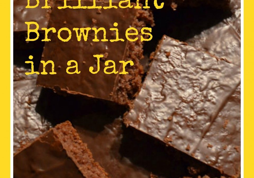 Brilliant Brownies in a Jar, chocolate recipes, brownie recipe, homemade gifts