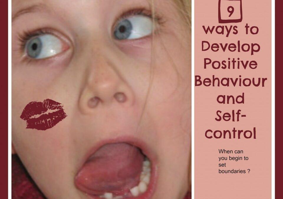developing good behaviour and self control, behaviour techniques, encouraging self control,