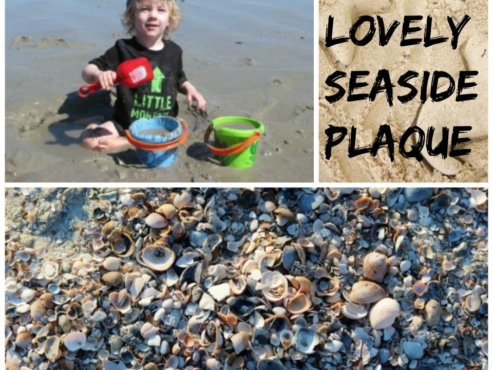 seaside crafts, summer crafts, shells, sand, holiday keepsake