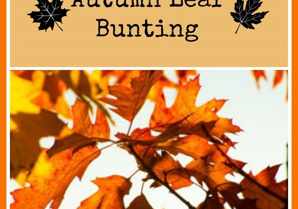 autumn bunting, autumnal decoration, thanksgiving decoration, autumn crafts