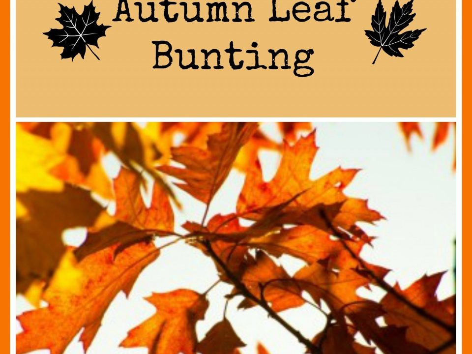 autumn bunting, autumnal decoration, thanksgiving decoration