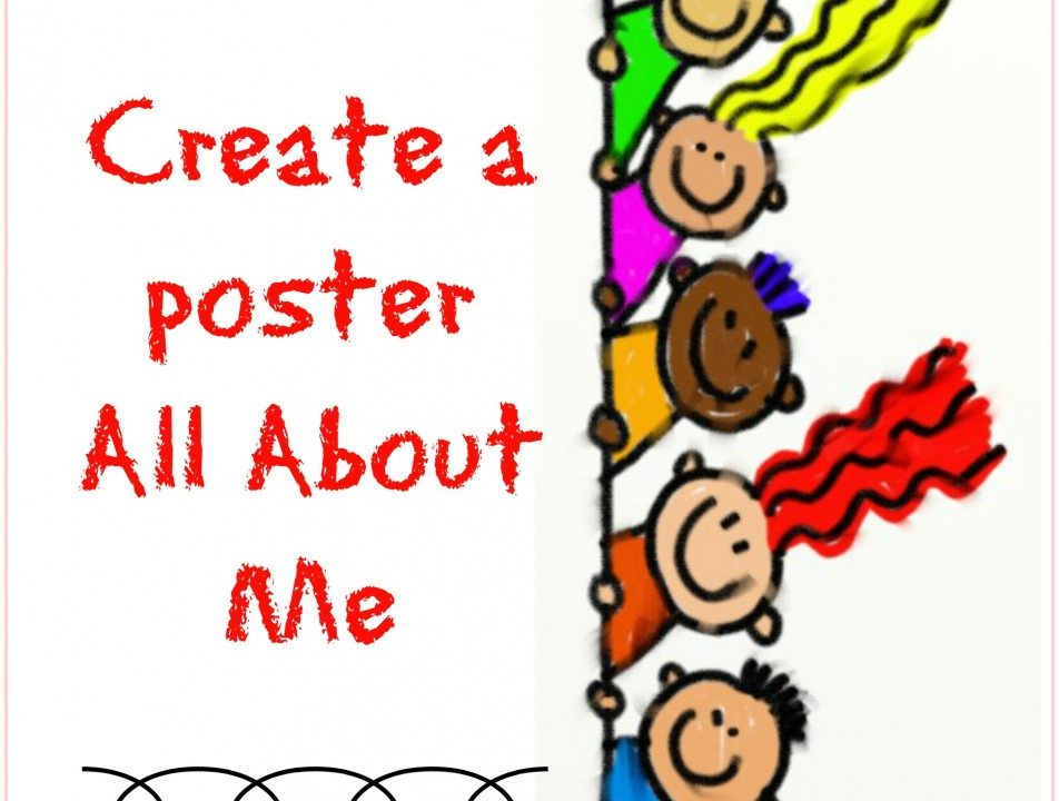 Create a poster All About Me, ncourage a healthy self esteem