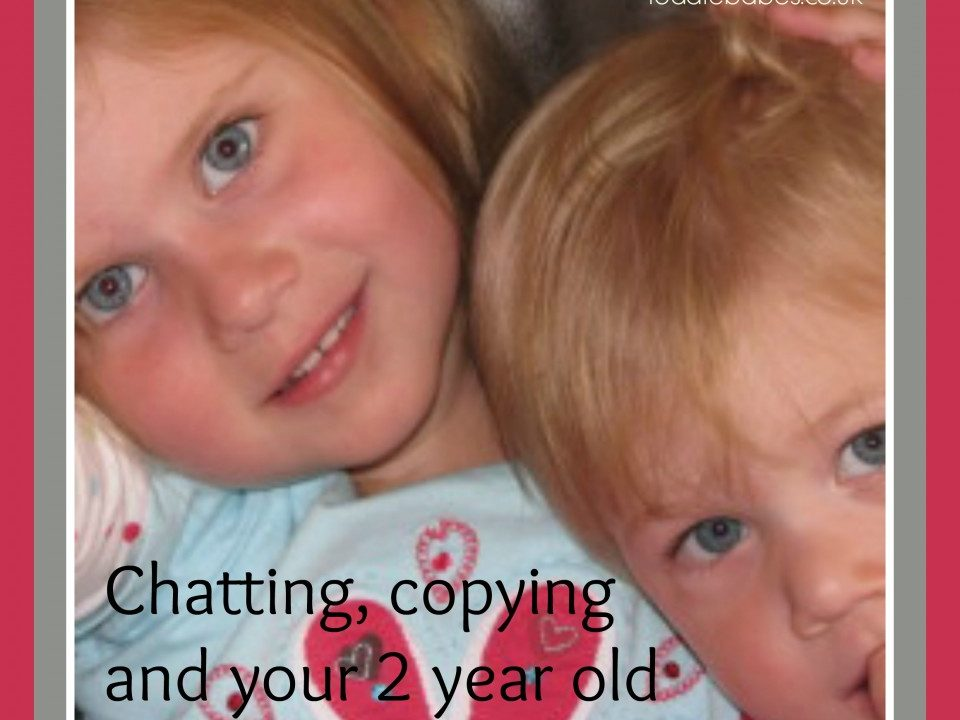 Chatting, copying and your 2 year old, language development, learning to talk