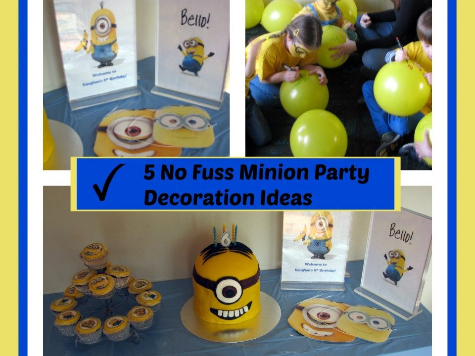 Minion party decoration, despicable me party,