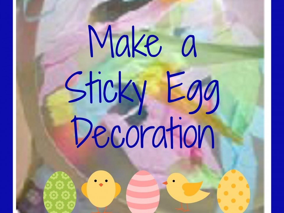 Make a Sticky Egg Decoration