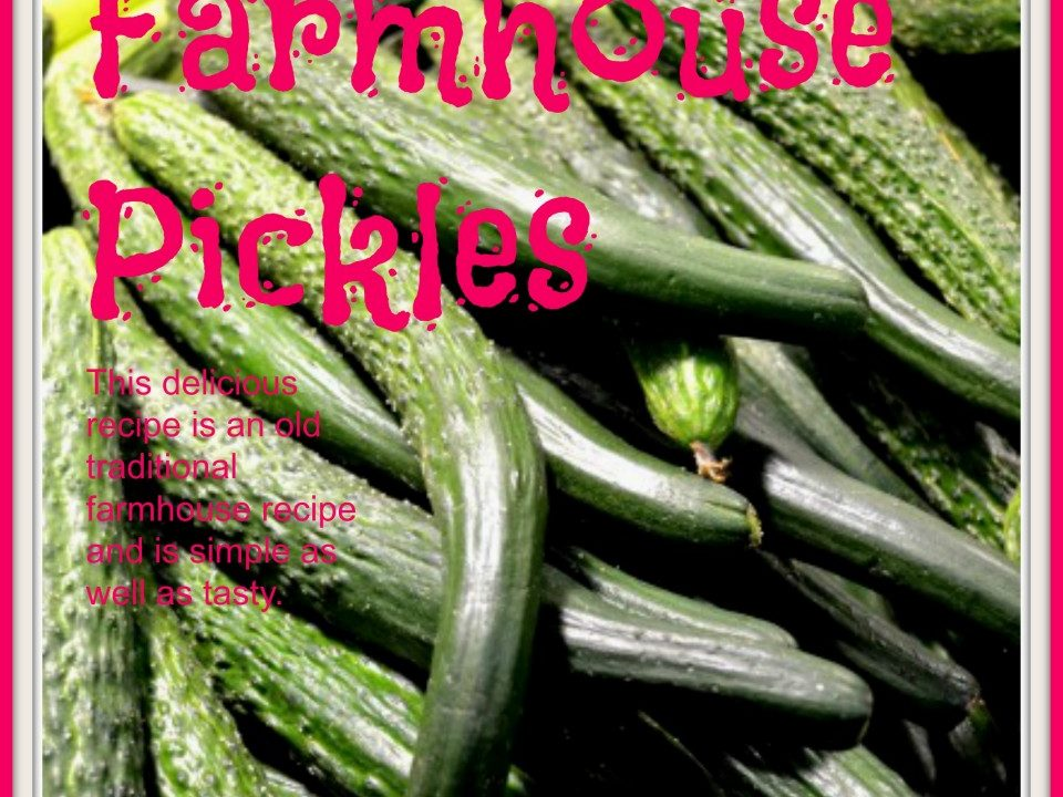 Farmhouse Pickles, pickeld cucumbers, pickle recipes