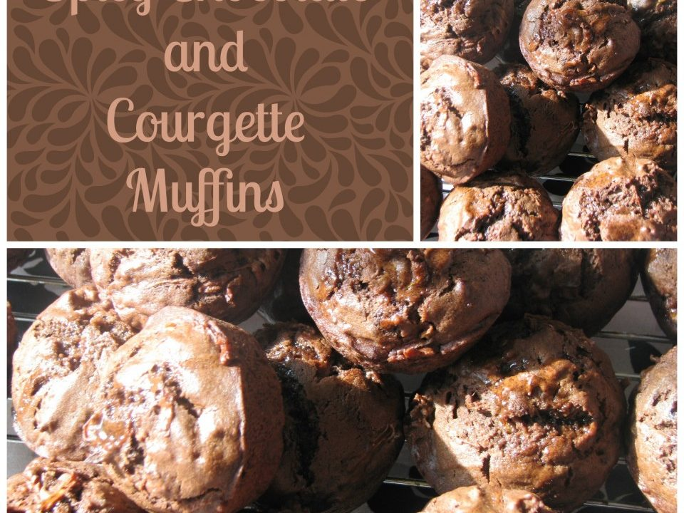 Spicy Chocolate and courgette Muffins, courgette recipes, mjuffin recipes, chocolate recipes