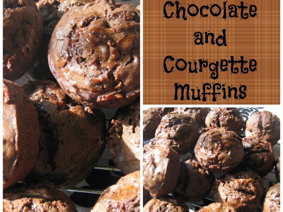 Rich Courgette and Chocolate muffins, chocolate recipes, courgette recipes, zuchini
