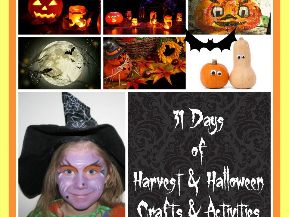 31 days of Harvest and Halloween craft and activities, Fall, Autumn, Thanksgiving, pumpkin, apple,