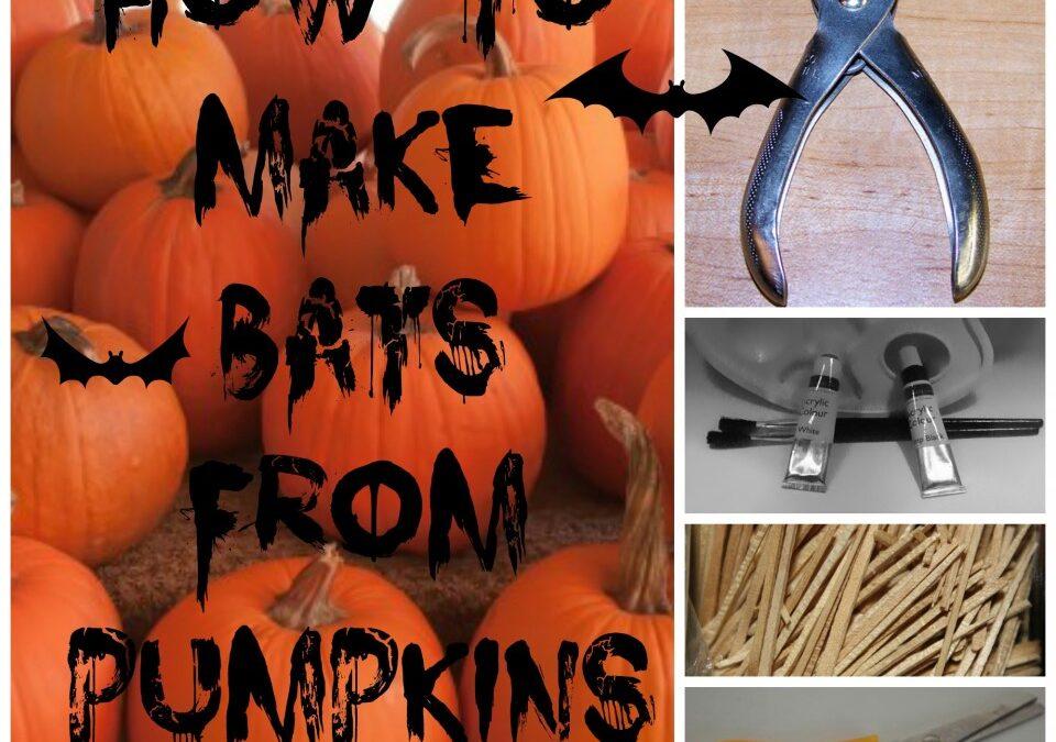 Pumpkin bats, Halloween bats,