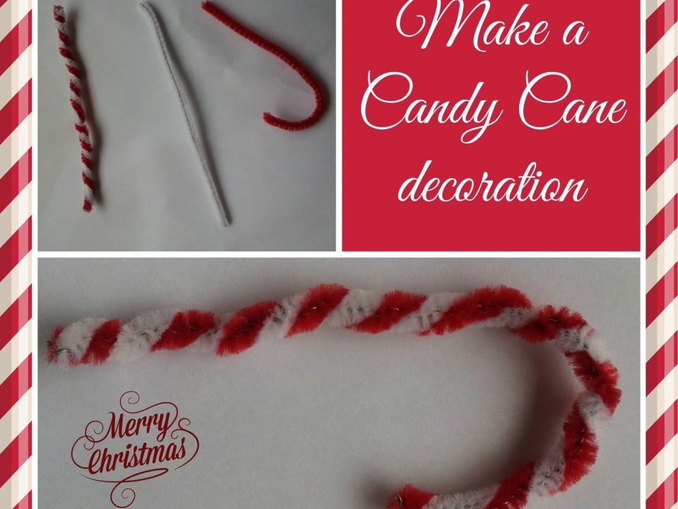 pipecleaner decoration, easy Christmas crafts, candy cane crafts