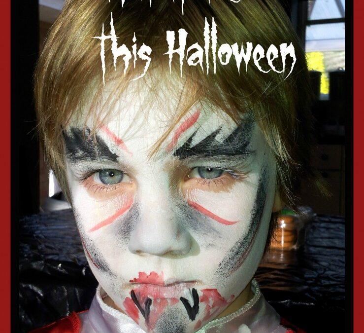 Dracula, vampire, halloween, dressup boys dress up, face paint