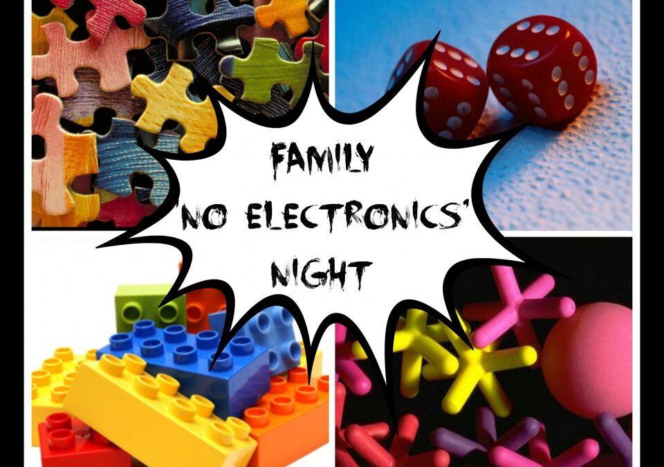 family activities, no electronics, family fun
