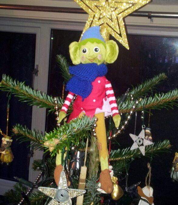 elf on the shelf, christmas elf, Christmas tree