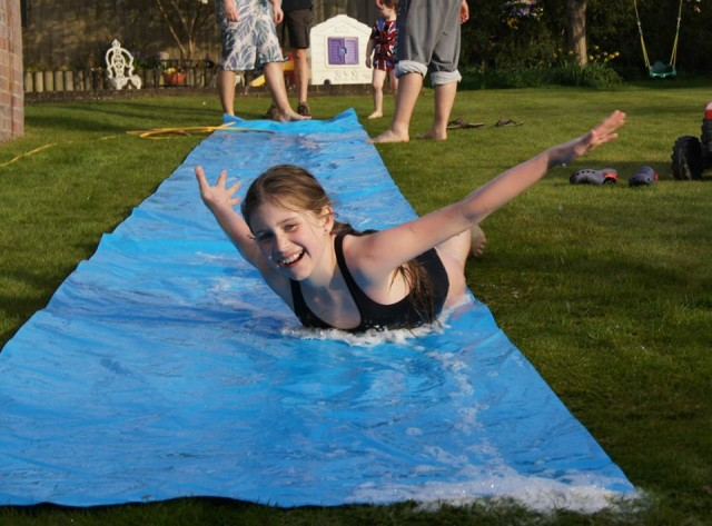 holiday activity, summer , water , slip and slide, toddlebabes
