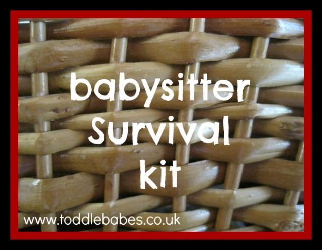 toddlebabes, babysitter, survival kit