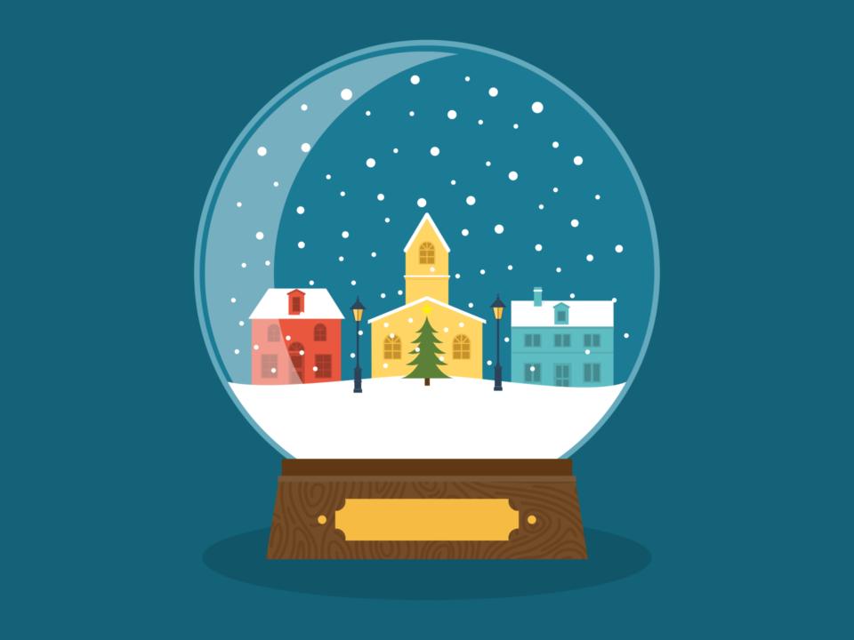 ball, snow, snow globe