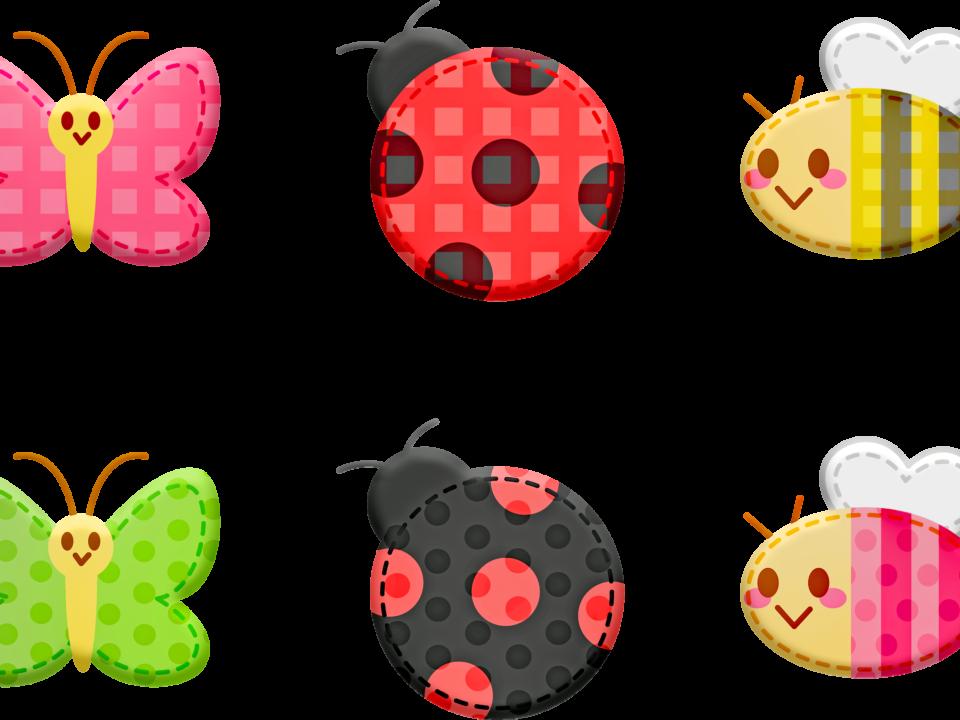 kawaii animals, animal stickers, butterfly